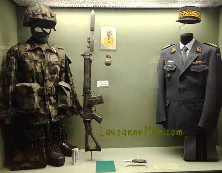 Musée Militaire Vaudois à Morges vers Lausanne